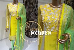 Designer Hand Embroidery Suit
