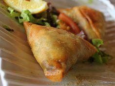Veggie samosas from my favorite Indian restaurant in Tenerife, Canary Islands!
