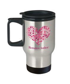 Romance Author Travel Mug Gift Mugs, Gifts In A Mug, Romance Authors, Novelty Gifts, Reading Lists, Writing Tips, Libraries, Travel Mug, Writers