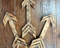 Wooden Arrows, Set of Three Wooden Arrows Wall Decor, Wooden Arrows Archery, Wooden Arrows Nursery, Arrow Nursery, Kitchen Tray, Wood Arrow, Ottoman Tray, Star Flower, Rustic Signs, Home Wall Decor, Arrows, Flower Pots