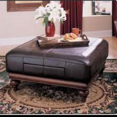Leather ottoman instead of coffee table