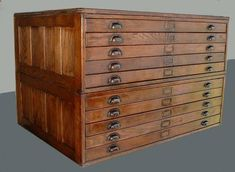 Wood flat file cabinet, for art, very nice.