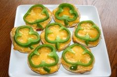 Green Appetizers - Shamrock Pepper Cheese Bites