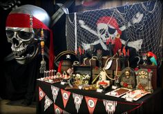 pirate party theme party photos | Pirate Themed Birthday Party Ideas, Pirate Themed Birthday Party ...