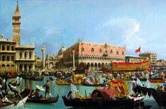 Canaletto, Venise, le Bucentaure de retour au Môle, le jour de l'Ascension. Vers 1731-1732. Huile sur toile, 156,3 x 237,5 cm. Durham, The Bowes Museum, Co. Durham, UK © The Bowes Museum