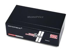 Monoprice 2-Way 300MHz SVGA Splitter, Amplifier, and Multiplier by Monoprice. $23.49. INTRODUCTION The Monoprice VS-812H video splitter is a distribution amp allowing you to drive two VGA displays simultaneously. Video splitter is ideal for:■ Test bench facilities■ Data Center■ Help desks■ Video broadcasting: Presentation Stock quotes Timetables Educational facilities FEATURES■ 300 MHz pixel frequency.■ Extends the video signal up to 65 meter (213 feet).