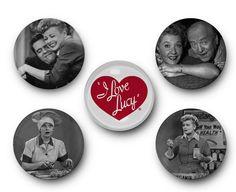 New to TreeSawCrafts on Etsy: I Love Lucy - Set of 5 Glass Magnets - Lucille Ball Desi Arnaz ricky ricardo ethel mertz fred mertz Cuban New York Television TV (9.99 USD)