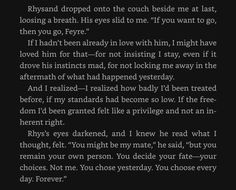 Rhysand & Feyre<<< another reason why Rhys will always and forever be 10000000 times better than Tamlin.
