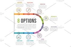 8 Options Infographics. Graphic Design Infographics