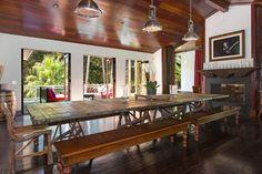 table ~ Kid Rock's Malibu home