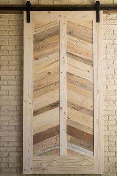 Custom Made Urban Chic Line; Pallet Wood Herringbone Barn Door
