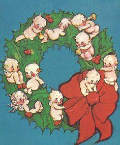 Kewpie Christmas card