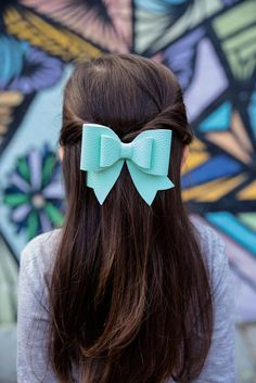 Sunflower Freckles Bow Tie Blue Snowflakes