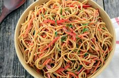Cold noodle salad in a light peanut sauce makes a perfect summer side—no mayo, no worries! Best Macaroni Salad, Best Pasta Salad, Easy Salad Recipes, Sauce Recipes, Cooking Recipes, Asian Recipes, Peanut Sauce Recipe, Peanut Recipes, Pecan Sandie Recipe