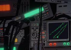 cyberpunk art retrofuturism gif