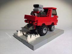 """1964 Dodge """"Little Red Wagon"""" rod Lego Car, Lego Toys, Little Red Wagon, Lego Vehicles, Lego Stuff, Lego Ideas, Lego Creations, Legos, Dodge"""