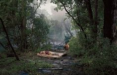 Gregory Crewdson, Untitled (Forest Clearing), 'Beneath the Roses', 2006 Cinematic Photography, Fine Art Photography, Conceptual Photography, Contemporary Photography, Photography Ideas, Gregory Crewdson Photography, Gagosian Gallery, Grunge, Foto Art