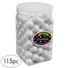 Pearl White Gumballs 117pc - Party City