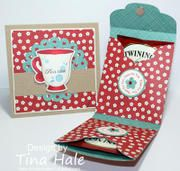 Time For Tea project created using products and the Time for Tea Bag Cut File from www.mytimemadeeasy.com