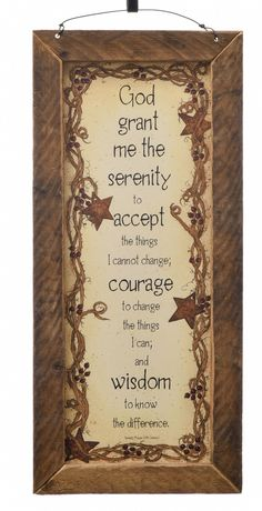 Serenity Prayer - Antique Wood Prayer Plaque