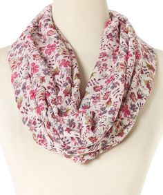 This Sweet Pink Floral Infinity Scarf by Bubbly Bows is perfect! #zulilyfinds