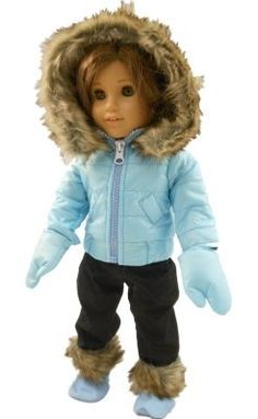 """The Queen's Treasures 18"""" Doll Clothes for American Girl Doll, Ski Wear Outfit by The Queen's Treasures, http://www.amazon.com/dp/B008MXP084/ref=cm_sw_r_pi_dp_BULUqb03DHJ63"""
