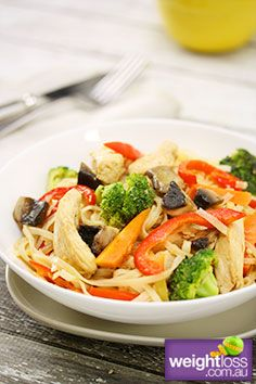 Ginger+Chicken+with+Noodles.+#HealthyRecipes+#DietRecipes+#WeightLossRecipes+weightloss.com.au