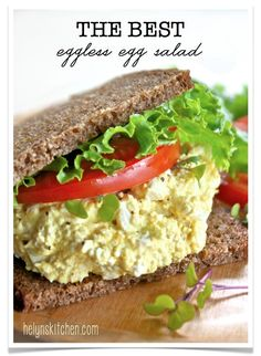 Helyn's Healthy Kitchen: The BEST Eggless Egg Salad ~ Plant-based, oil and mayo free!