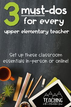 High expectations are important in any upper elementary classroom and there are THREE ways that I make sure that I am set up for success. I use classroom management routines all about respect and create a classroom charter. I also intentionally teach research-backed lessons all about growth mindset. Take a look at these step-by-step routines for upper elementary classrooms in third, fourth, and fifth grades. Great for in-person and online learning, not just for back to school! Elementary Teaching, Upper Elementary, Elementary Schools, Classroom Charter, A Classroom, I School, Back To School, Growth Mindset Display, Reflection Questions