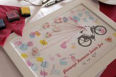 księga gości- plakat pamiątkowy na odciski palców Paper Mint guest book https://mietowo.wordpress.com/