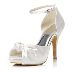 Women's Satin Stiletto Heel Peep Toe Sandals With Buckle (047048012) THESE LOOK VERY COMFORTABLE....REALLY LIKE THEM