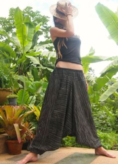 Cotton Harem Trousers Aladdin Alibaba Gypsy Yoga Pants Hippie Hipster Travel