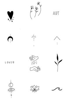 Tiny Tattoos For Girls, Cute Tiny Tattoos, Dainty Tattoos, Little Tattoos, Pretty Tattoos, Easy Small Tattoos, Small Tattoos For Women, Delicate Feminine Tattoos, Small Henna Tattoos