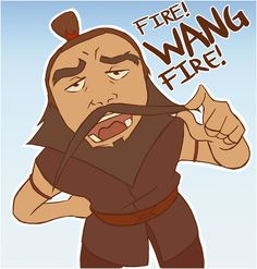 """Sokka """"Wang Fire"""" and you just did that in my voice"""