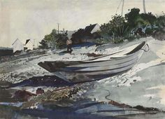NOON HOUR - By Andrew Wyeth Artwork Description Dimensions: 21½ x 29½ in. (54.6 x 75 cm.) Medium: watercolor and pencil on paper Creation Date: 1942