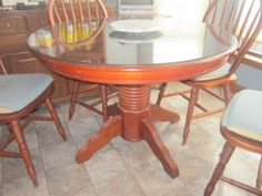 Freshen up this kitchen table and chairs from our Bellevue Sale with some of our Amy Howard One Step Paint