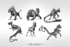 Creature thumbnails by hubbleTea on deviantART