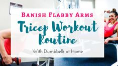 This tricep workout routine is perfect to do with dumbbells at home. You can do this tricep workout at the gym and can easily adapt these move to using resistance bands to do the routine without weights. Learn new bodyweight exercises to target flabby arm Tricep Workout Routine, Abs And Cardio Workout, Arm Workouts At Home, Short Workouts, Lower Ab Workouts, Bike Workouts, Swimming Workouts, Swimming Tips, At Home Workouts