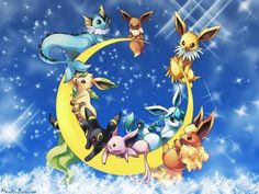 eveelution-pokemon wallpaper - 50 Lovely Pokemon Wallpapers  <3 <3