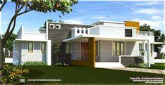 Excellent Single Home Designs Single Floor Contemporary House Design Kerala Home Design And Floor   Home Design