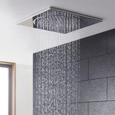 Buy Hudson Reed Ceiling Tile Square Fixed Shower Head, x Chrome today. Hudson Reed Part No: Free UK delivery in approx 3 working days. Bathroom Shower Heads, Downstairs Bathroom, Small Bathroom, Upstairs Bathrooms, Ceiling Shower Head, Ceiling Tiles, Low Ceiling Basement, Shower Makeover, Fixed Shower Head