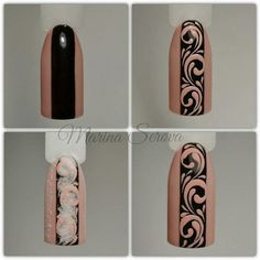 Here are some hot nail art designs that you will definitely love and you can make your own. You'll be in love with your nails on a daily basis. Henna Nails, 3d Nails, Nail Manicure, Pastel Nails, Bling Nails, Nail Art Hacks, Gel Nail Art, Easy Nail Art, Elegant Nails