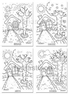 Symmetry Worksheets, Shape Tracing Worksheets, Coloring Book Pages, Coloring Sheets, Four Seasons Art, Sonic Birthday, Outline Images, Hand Embroidery Designs, Early Childhood Education