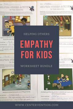empathy activities: helping others worksheet bundle. Free printables for elementary school counselors