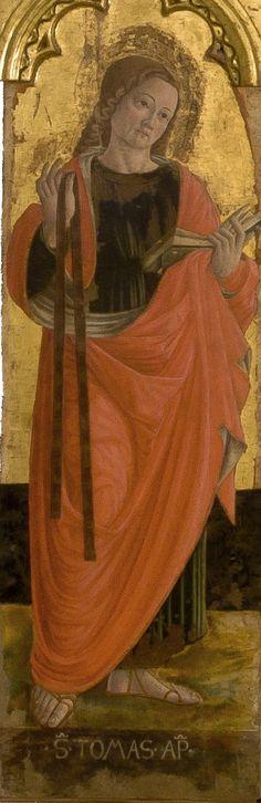 Girolamo di Giovanni - San Tommaso, dettaglio Polittico di Monte San Martino - 1473 - Chiesa di San Martino vescovo, Monte San Martino, in provincia di Macerata.