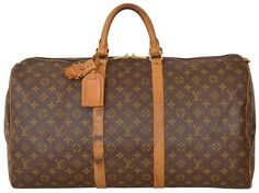 937ccebbfd6a Louis Vuitton Keepall 55 Monogram Carry On Duffle Luggage M41424 Brown Travel  Bag. Save 69
