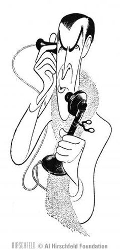 "Al Hirschfeld ~ IBM presents Movies to Remember: James Stewart in ""It's a Wonderful Life"""