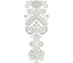 Ľudová výšivka Záhorie, kútna plachta, 7x18 cm