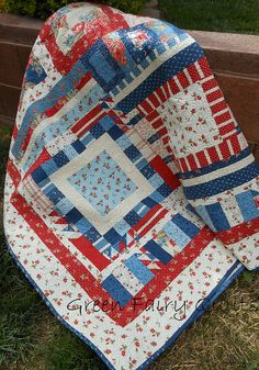 Red and Blue Quilt!