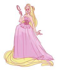 Cute Rapunzel sketch